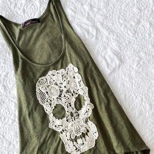 Tops - 2/$20 skull tank top